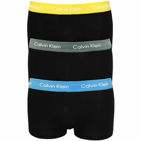Calvin Klein Cotton Stretch Low Rise Trunks 3 Pack U2664G-RSC Black