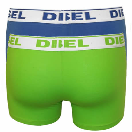 Diesel UMBX-SHAWN Boxer Trunks 2 Pack 00S9DZ-0GAFM-02 Lime/Royal