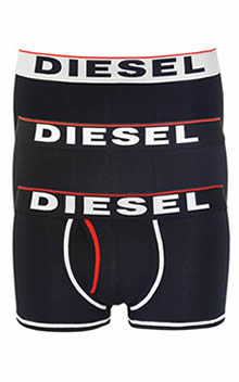 Diesel UMBX-SHAWN Boxer Trunks 3 Pack 00SAB2-0JADV-02 Navy